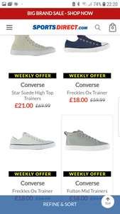 Converse sale at Sports Direct - up to 90% off (£4.99 p&p) - from £5