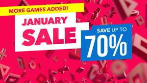 Ending soon January sale upto 70% off on PlayStation store. Some great deals to be had e.g Skyrim VR £19.99.