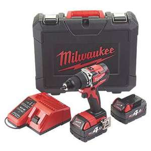 1 Day Offer at ScrewFix - MILWAUKEE M18CBLPD-402C 18V 4.0AH LI-ION REDLITHIUM BRUSHLESS CORDLESS COMBI DRILL £169.99 Screwfix
