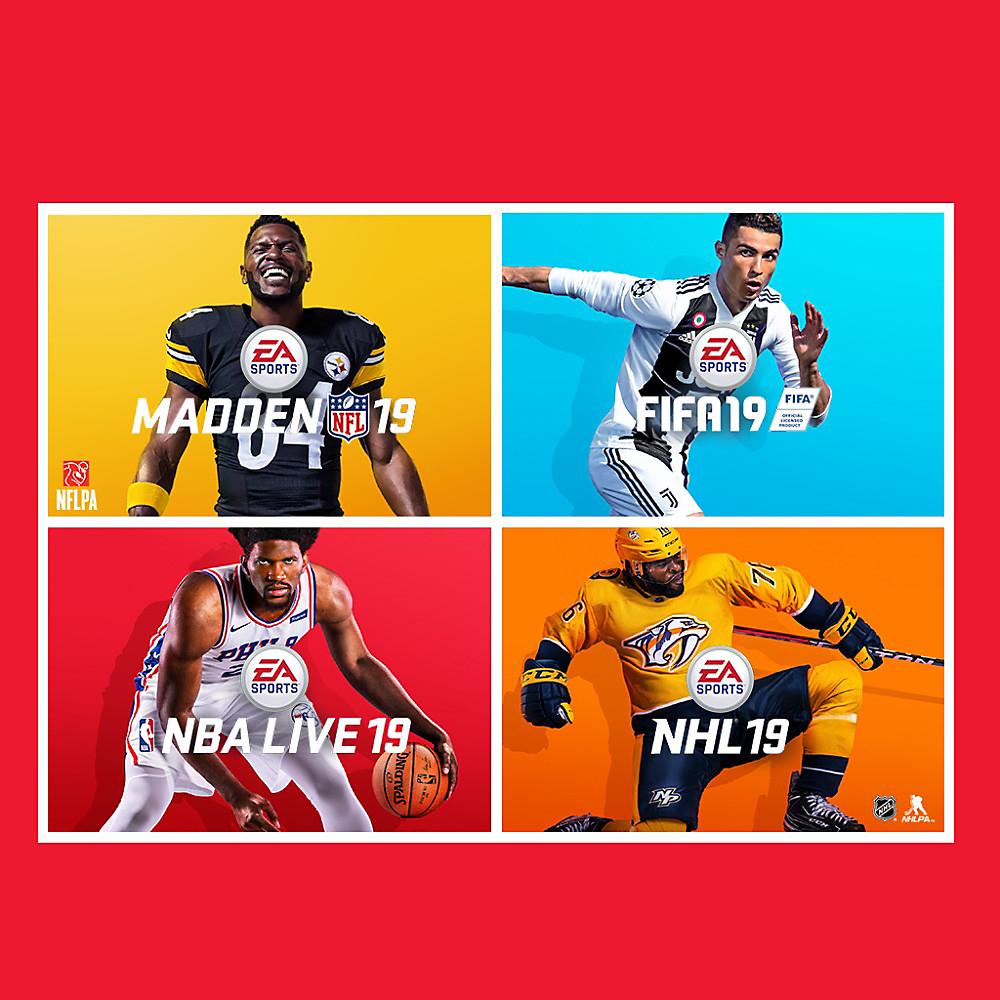 EA Sports Bundle - FIFA 19 + NBA LIVE 19 + NHL 19 + Madden NFL 19 Xbox One £62.44 at Xbox Store US