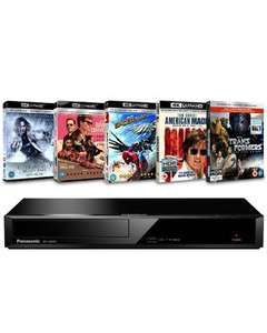 Panasonic 4K Ultra HD Blu Ray player and 5 4k UHD bundle £116.99 delivered with code @ Zoom