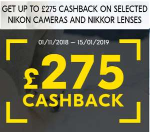 Get Cash back up to £275 if you have bought Selected Nikon product after 1st Nov' 18  (All Details in OP)@ NikonPromotions
