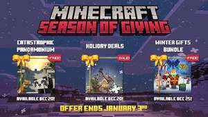 Minecraft - Catastrophic Pandemonium World Map & Winter Gift Bundle Free (Switch, Xbox One, PC, iOS & Android)