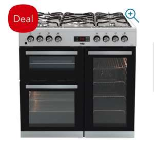 Beko KDVF90X 90cm Dual Fuel Range Cooker in Stainless Steel £70 off!.