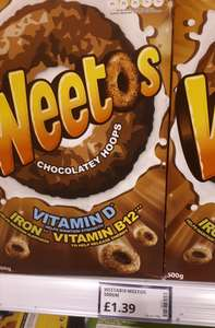 Weetos chocolate hoops 500g £1.39 @ Poundstretcher