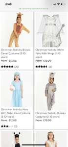 TU Clothing Sainsbury's Kids Nativity Costumes Reduced From £12.00 To £3.60 Online And Instore