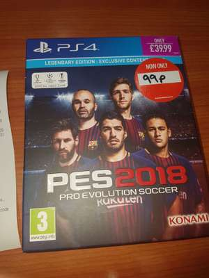 PES 2018 legendary edition - 99p instore @ game