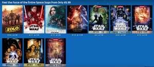 Rakuten : Feel the Force of the Entire Star Wars Saga From Only £6.99