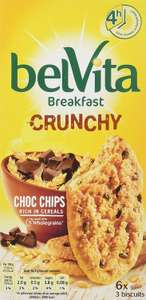 Belvita Breakfast Crunchy Choc Chips Biscuits 6-Pack 300 g (Pack of 10) @ Amazon £13.90 Prime £18.39 Non Prime