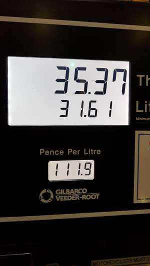 Petrol £1.117p per litre at Costco Gateshead possibly all Costco.