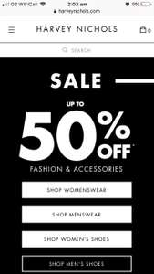 HARVEY NICHOLS SALE NOW ON - up to 50% off fashion & accessories