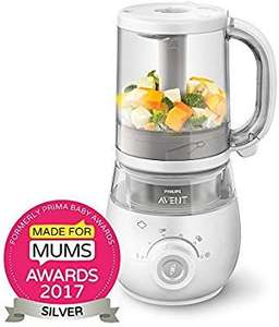 Philips AVENT 4-in-1 Healthy Baby Food Maker, White  (Steam, blend, defrost and reheat your homemade meals) @Amazon for £71.95