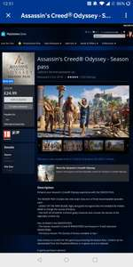 Assassin's Creed Odyssey Season Pass PS4 £24.99 @ PS Store