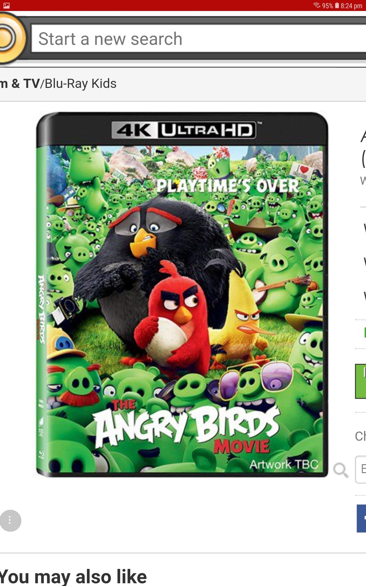 Angry Birds Movie, The (U) 2016 4K UHD+BR @ Cex UK £6