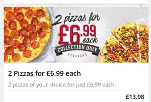 Any Pizza, Any size £6.99 / £8.99 at Pizza Hut (local offers)