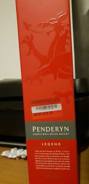 Penderyn single malt Welsh whisky instore at Asda for £18.75