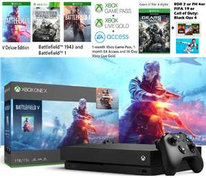 MS Xbox One X 1TB – Battlefield (V Deluxe+1+1943)+ GOW4 + (RDR2/COD4/FIFA19/FH4) +Xbox live n Gold +EA access for £399.99 @ Microsoft