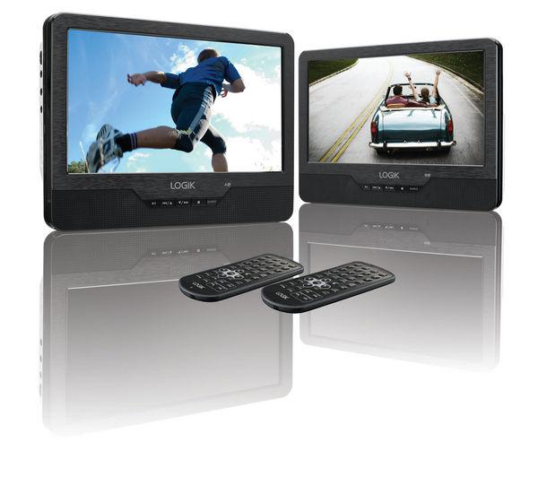 LOGIK L9DUALM13 Dual Screen Portable DVD Player - Black & White £109 at Currys