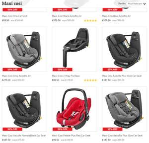 Maxi Cosi at Dunelm - 50% OFF (iSize Bases, Pebble Plus, Pearl, Axxisfix, pushchairs etc)