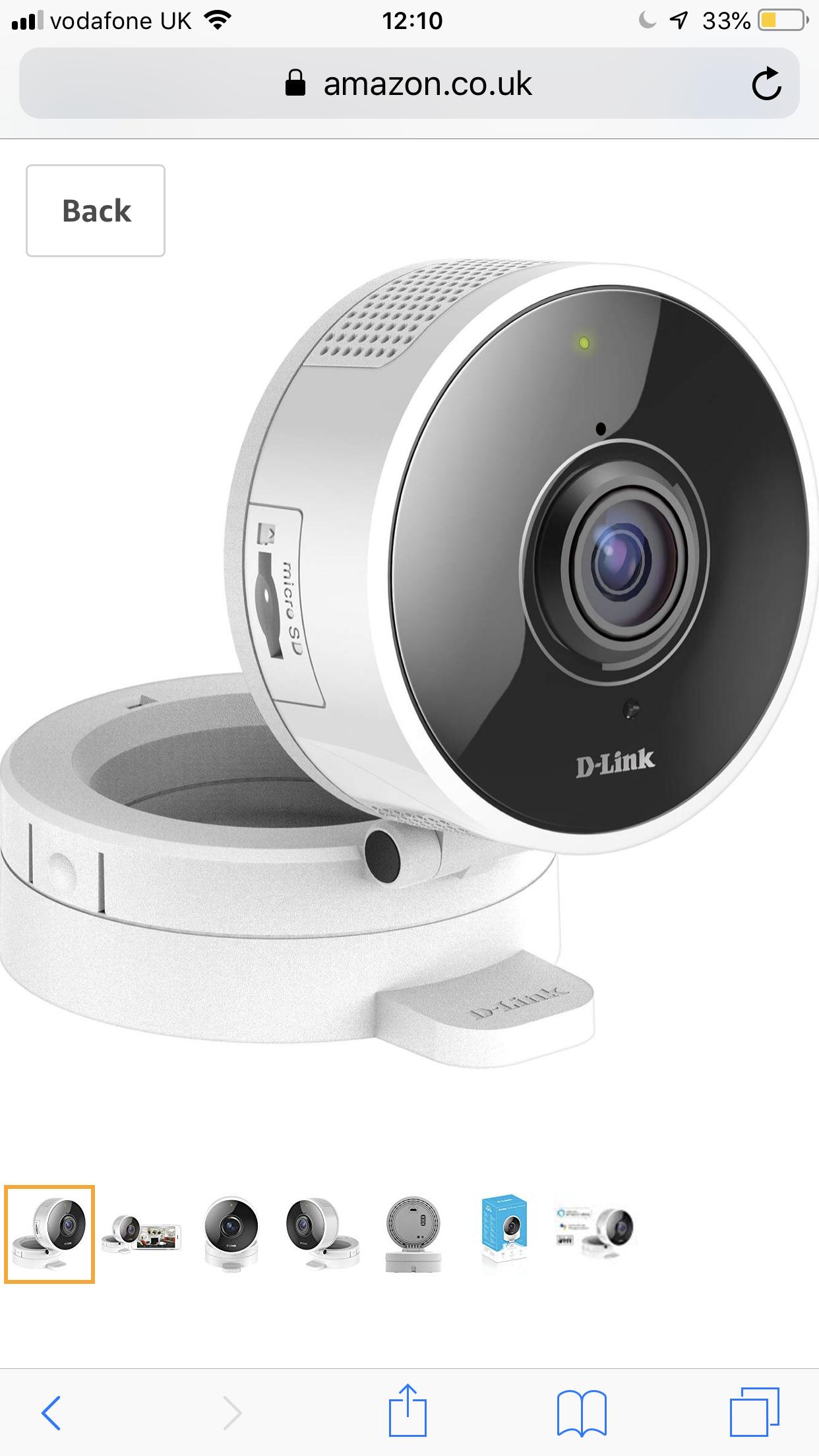 D-Link DCS-8100LH HD 180 Degree Wi-Fi Camera - @ Amazon £68.99