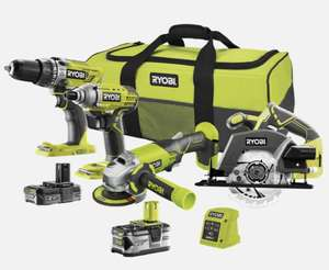 Ryobi ONE+ 18V 4 Piece Combo Kit R18CK4C-242S £239 (at-least £340 if bought separately) @ Homebase