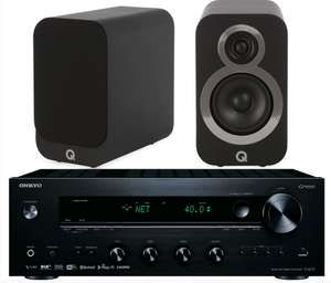 Onkyo TX-8270 Network Stereo Receiver w/ Q Acoustics 3020i Speakers £619 @ Exceptional audio visual