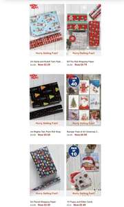 2m Santa/Rudolf wrapping paper 29p || Pack of 40 Christmas cards 59p || Christmas Tree storage bag 99p +MORE (see op) @ Studio + free del
