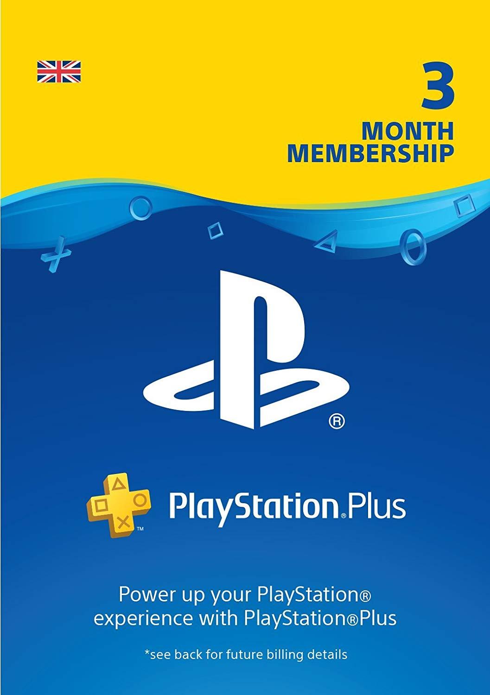 PlayStation Plus: 3 Month Membership - PSN Download Code - UK account £13.85 @ Amazon