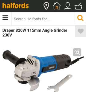 Draper Angle Grinder 820W £13.50 with code @ Halfords, Free C&C.