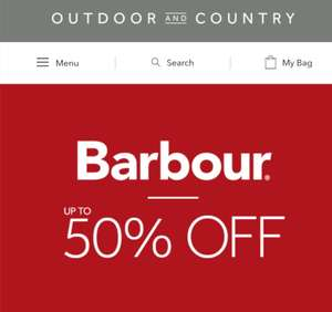 Barbour Up To 50% OFF Sale online and in-store