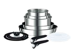 Amazon: Tefal Ingenio Pots and Pans Set, Stainless Steel, 13-Piece, Induction @ £100.99 (63% discount)