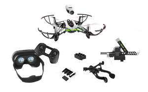 PARROT Mambo Mission Drone with 2 batteries, Flypad Controller, 720p camera, grabber, cannon & FPV Goggles Bundle £79 - Currys