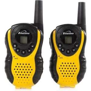 Binatone Latitude 100 Black/Yellow Twin Pack Walkie Talkie with up to 3 km Range at Amazon for £18.99 Prime / £22.98 non Prime