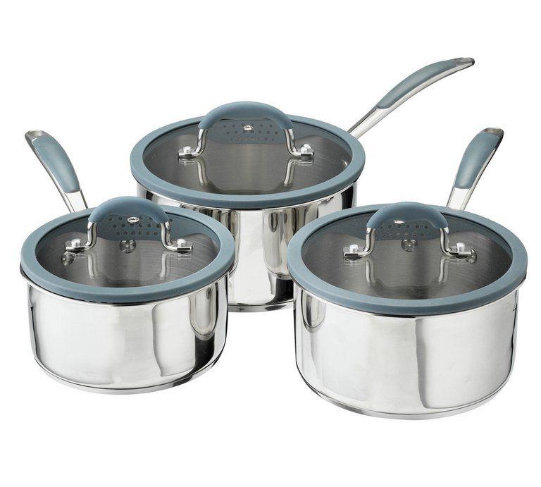 Sainsbury's Home 3 Piece Stainless Steel Pan Set £23.50 at Argos