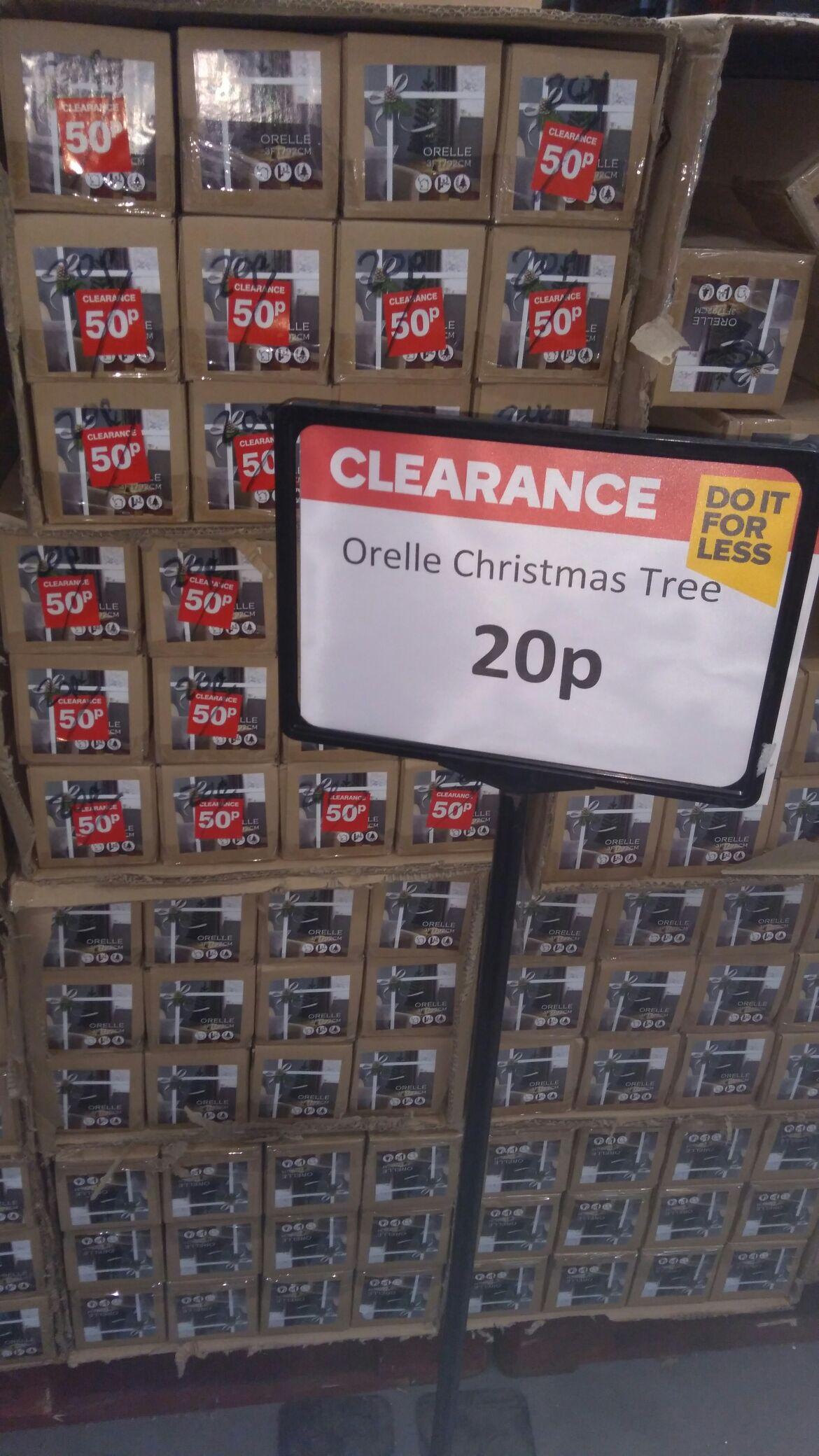 3ft Orelle Christmas Tree 20p in-store B&Q