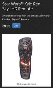 Star Wars - Kylo Ren SKY+ HD remote (and other themed remotes)  for £8.99 delivered