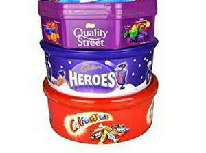 Chocolate Tubs Cadbury Heroes 660g Mars Celebrations 650g