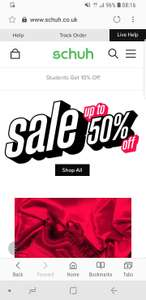 Schuh 50% sale - £1 delivery or free over £25