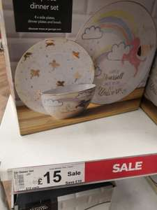 12 piece unicorn dinner set instore at Asda for £15