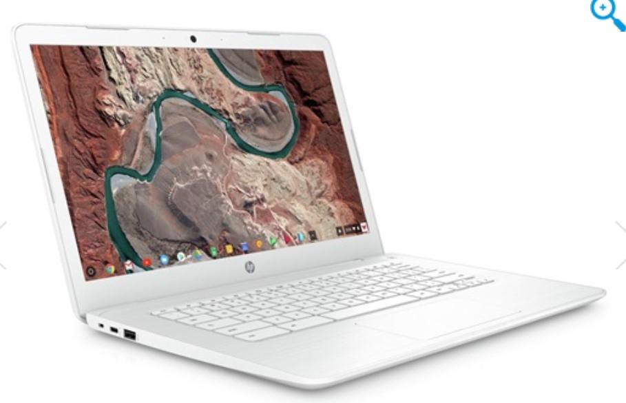 "HP 14-ca004na Chromebook, Intel Celeron, 4GB RAM, 32GB eMMC, 14"", Grey, White, £169 at HP"
