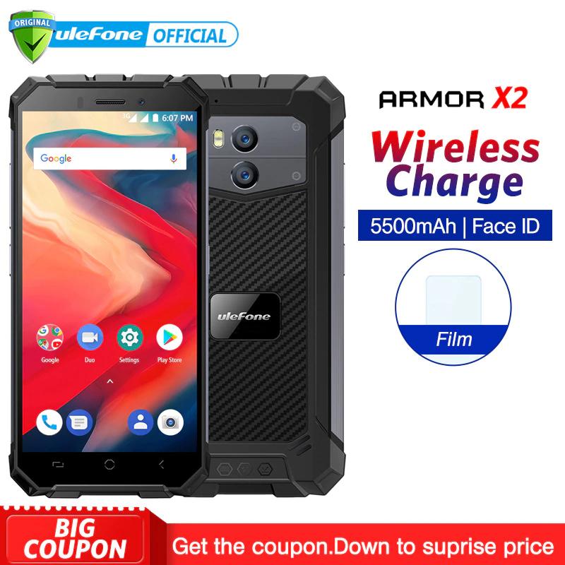 """Ulefone Armor X2 IP68 Waterproof Android 8.1 5.5"""" HD Quad Core 2GB+16GB NFC Face ID 5500mAh Smartphone £80.18 @ aliexpress"""