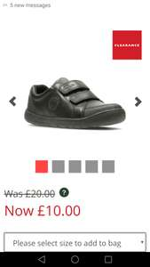 Clarks fuzzle pop boys shoes in various sizes £10 delivered @ Clarks outlet