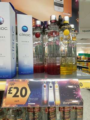 Ciroc vodka in  morrisons - £20