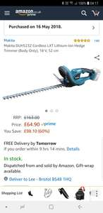 Makita hedge trimmer at Amazon for £64.90