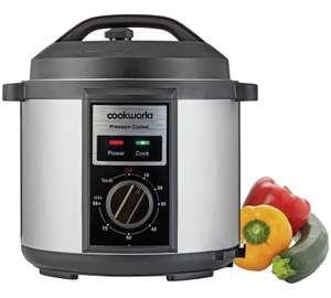 Cookworks Pressure cooker at Argos for £14.99 (free C&C)