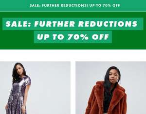 ASOS Further Reductions Now Live - Up to 70% Off (£3 delivery under £25 / free with Premier)