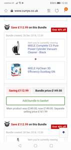 Miele complete C3 pure power with 4 extra bags £149 @ Currys