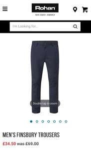 Rohan Finsbury work trousers £38.50 delivered @ Rohan