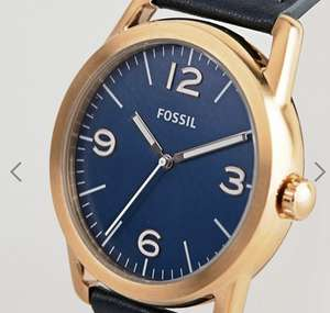 Fossil BQ2306 mens navy leather watch £45 @ Asos