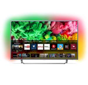Philips 50PUS6753 4k Ultra HD smart tv with HDR, freeview play & 3 sided ambient Lighting (2018 model) @ Amazon
